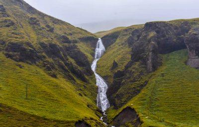 Fjaðrárgljúfur Entrance Waterfall
