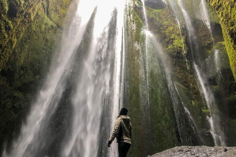 Gljúfrabúi Waterfall Look Up-featured