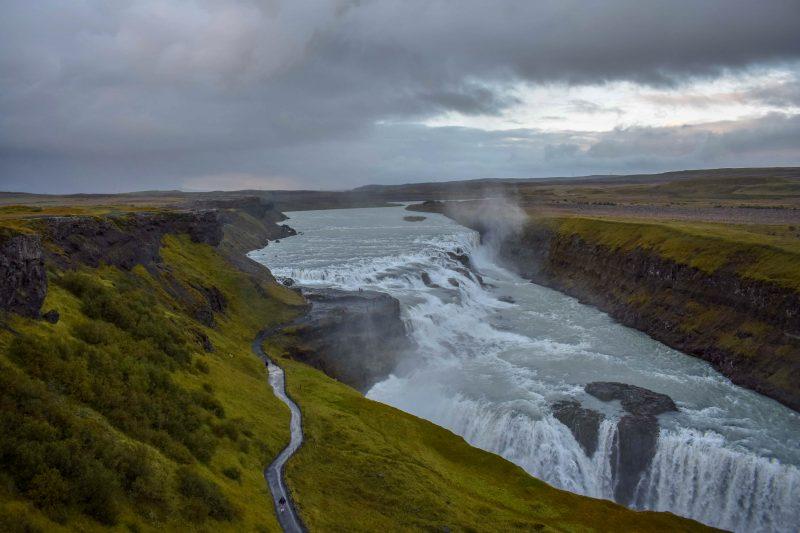 Gullfoss Falls Top View