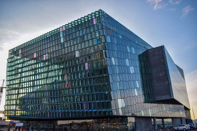 Harpa Concert Hall and Conference Centre Sunset-featured