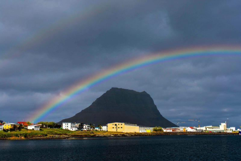 Kirkjufell Rainbow