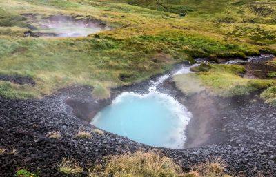 Reykjadalur Hot Spring Thermal River Turquoise Spring