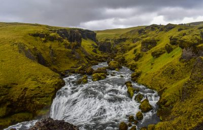 Skógafoss Waterfall Hike