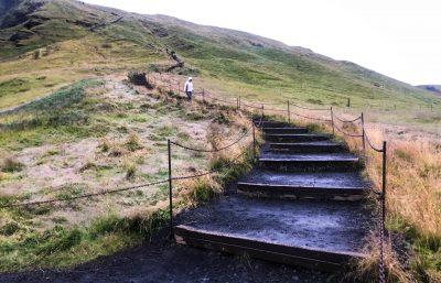 Skógafoss Waterfall Staircase